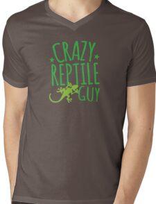 Crazy Reptile Guy Mens V-Neck T-Shirt