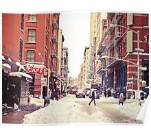 Winter in New York City - Soho in the Snow Poster