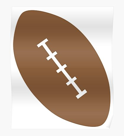 single brown rugby or American football Poster