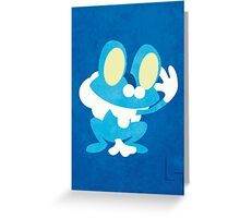 Froakie Greeting Card