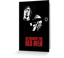 Anton Chigurh (Javier Bardem) No Country For Old Men  Greeting Card