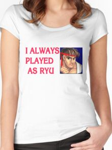 Street Fighter 2 Memories RYU Women's Fitted Scoop T-Shirt