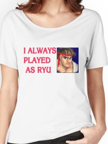 Street Fighter 2 Memories RYU Women's Relaxed Fit T-Shirt