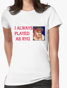 Street Fighter 2 Memories RYU Womens Fitted T-Shirt