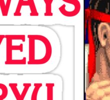 Street Fighter 2 Memories RYU Sticker