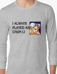 Street Fighter 2 Memories CHUN LI Long Sleeve T-Shirt