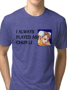 Street Fighter 2 Memories CHUN LI Tri-blend T-Shirt