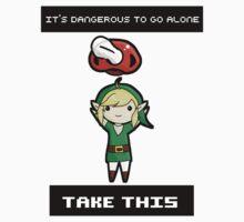 It's dangerous to go alone, baby Kids Tee