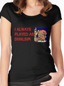 Street Fighter 2 Memories DHALSIM Women's Fitted Scoop T-Shirt