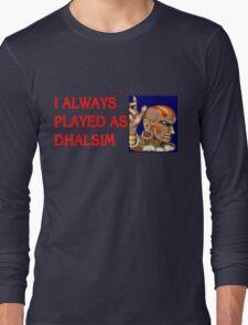 Street Fighter 2 Memories DHALSIM Long Sleeve T-Shirt