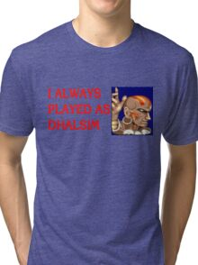 Street Fighter 2 Memories DHALSIM Tri-blend T-Shirt