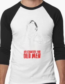 Anton Chigurh (Javier Bardem) No Country For Old Men  Men's Baseball ¾ T-Shirt