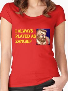 Street Fighter 2 Memories ZANGIEF Women's Fitted Scoop T-Shirt