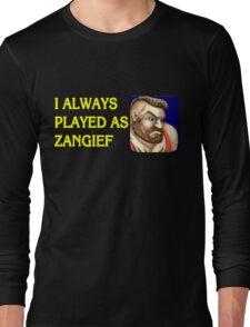 Street Fighter 2 Memories ZANGIEF Long Sleeve T-Shirt
