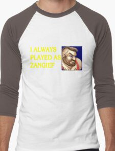 Street Fighter 2 Memories ZANGIEF Men's Baseball ¾ T-Shirt