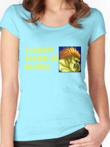 Street Fighter 2 Memories BLANKA Women's Fitted Scoop T-Shirt