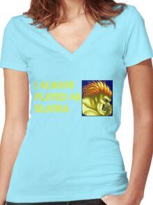Street Fighter 2 Memories BLANKA Women's Fitted V-Neck T-Shirt