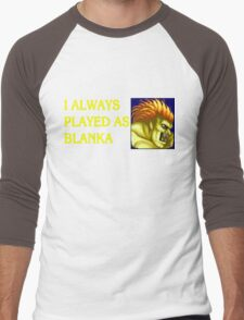 Street Fighter 2 Memories BLANKA Men's Baseball ¾ T-Shirt
