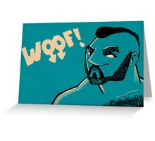 WOOF! Greeting Card