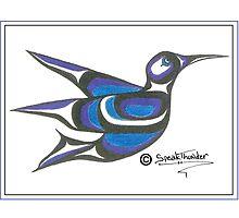blue humming bird by Speakthunder
