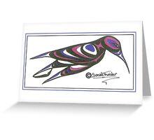 blue and purple humming bird Greeting Card
