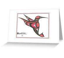 red and oj humming bird Greeting Card