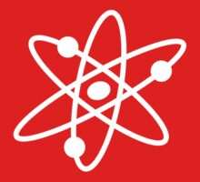 The Big Bang Theory Atom Logo 2 (in white) by electricFIELD