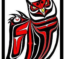 Horned Owl by Speakthunder