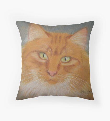 Pat's cat Throw Pillow