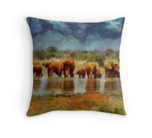 Ban Hunting by Pierre Blanchard Throw Pillow
