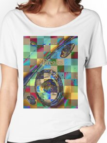 Das VW-Freaks Artistic Foiled Beetle Women's Relaxed Fit T-Shirt