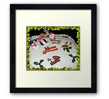 A Kiss For Santa  Framed Print