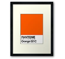 pantone orange 031C Framed Print
