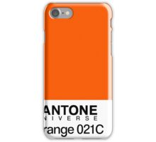 pantone orange 031C iPhone Case/Skin
