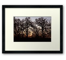 Drive By Silhouettes Framed Print