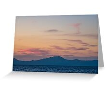 Sunset from Nisyros   The Aegean Sea Greeting Card