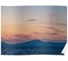 Sunset from Nisyros   The Aegean Sea Poster