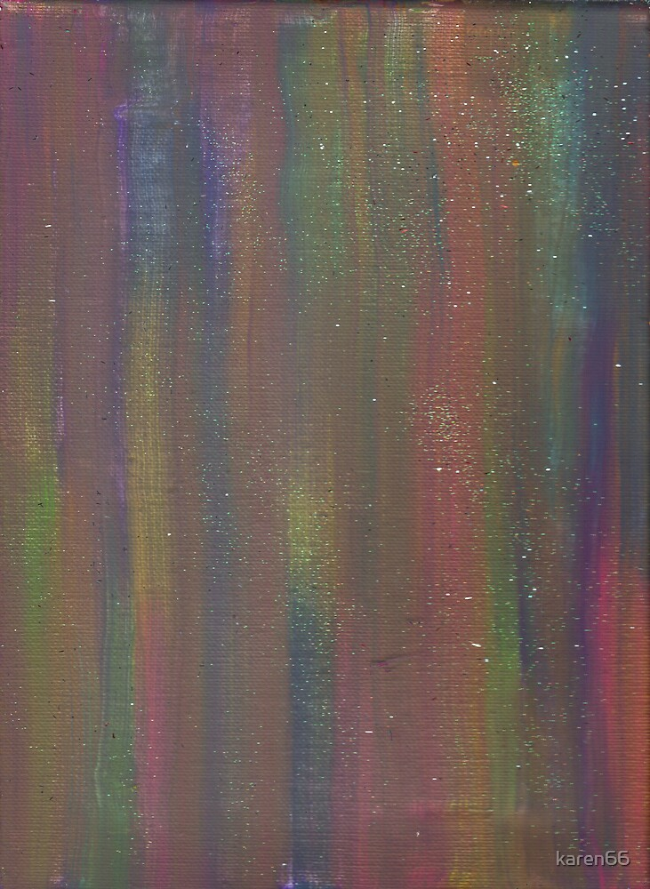 GOLDEN RAINBOW DREAMS ON CANVAS by karen66