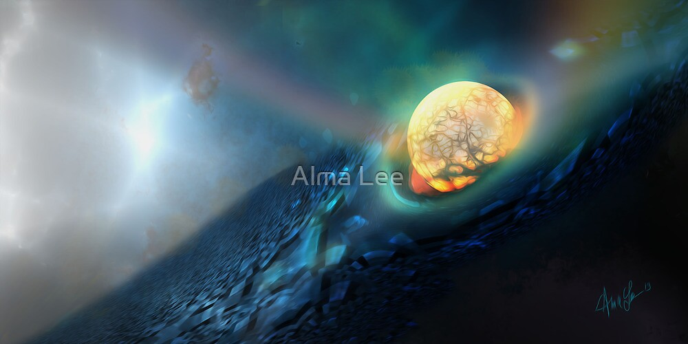 Upon Impact, deep space by Alma Lee by Alma Lee