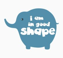 I am in good shape funny slogan tee shirts ( time to loss weight )  Baby Tee