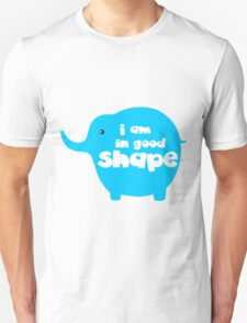 I am in good shape funny slogan tee shirts ( time to loss weight )  T-Shirt