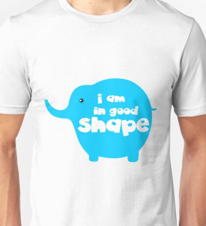I am in good shape funny slogan tee shirts ( time to loss weight )  Unisex T-Shirt