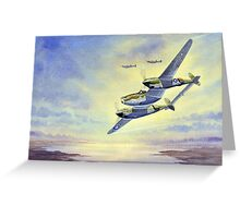 P-38 Lightning Aircraft Greeting Card
