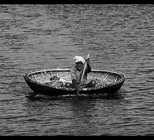 The Coracle Fisherman by EveW