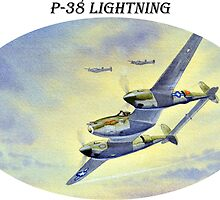 P-38 Lightning Aircraft by bill holkham