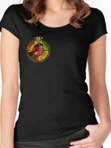 Zombie Apocalypse Survivor Type (Small Pic upr rt shoulder) Women's Fitted Scoop T-Shirt