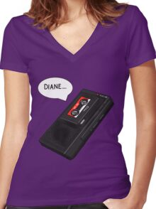 """Diane...."" Women's Fitted V-Neck T-Shirt"