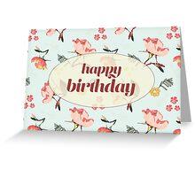 Bouquet Happy Birthday card Greeting Card