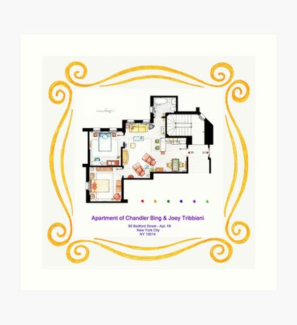 "Apartment of Chandler & Joey from ""FRIENDS"" Art Print"