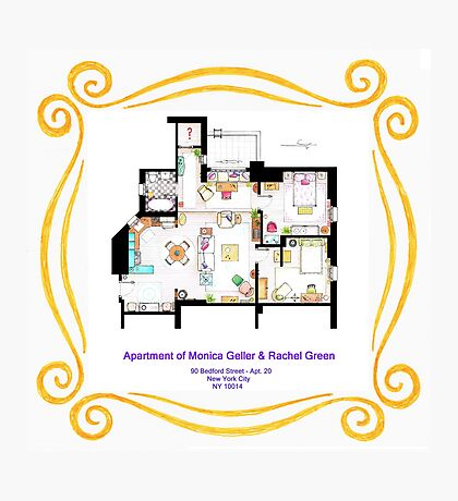 """Apartment of Monica and Rachel from """"FRIENDS"""" Photographic Print"""